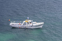 Pleasure Boat. Tourist Pleasurecraft on calm sea Stock Images