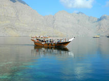 Pleasure boat with tourists in the Red Sea Stock Photo