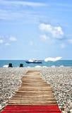 Batumi Pleasure Boat and amazing blue sky Royalty Free Stock Photo