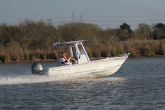 Pleasure Boating. Family pleasure Boating on Clear Lake Bay Nassau Bay Texas Stock Photography