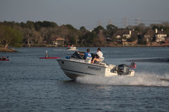 Pleasure Boating. Family pleasure Boating on Clear Lake Bay Nassau Bay Texas Stock Photos