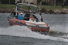 Pleasure Boating. Weekend boating on Galveston Bay inlet Stock Photography