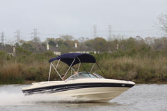 Pleasure boating. Weekend Boating in Nassau Bay Texas Royalty Free Stock Photography