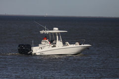 Pleasure Boating. Weekend boating in Texas on Gulf Of Mexico. Inboard, Outboard, and Sail. Fishing boats are a large part of boating Royalty Free Stock Images