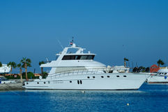 Pleasure boats at anchor Stock Photography