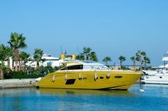 Pleasure boats at anchor Royalty Free Stock Photos