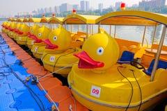Pleasure boats stock photo