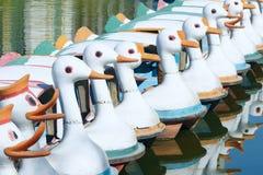 Pleasure boats. The close-up of park pleasure boats Stock Photo