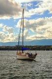 Pleasure boats by the lake leman Stock Photo