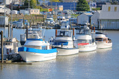 Pleasure Boats and Marina Stock Images