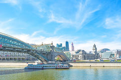 The pleasure boats in Moscow Royalty Free Stock Images