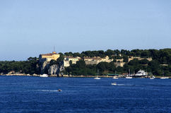 Pleasure Boats Past Old French Fortress Stock Image