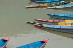 Pleasure boats on Phewa lake Stock Photos