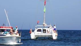 Pleasure boats in Port El Kantaoui, Tunisia, Sousse stock footage
