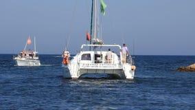 Pleasure boats in Port El Kantaoui Tunisia, Sousse stock video footage