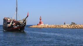 Pleasure boats in Port El Kantaoui, Tunisia, Sousse stock video footage