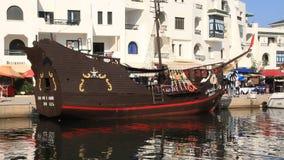 Pleasure boats in Port El Kantaoui, Tunisia, Sousse stock video