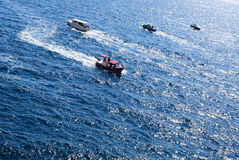 Pleasure boats on the sea Stock Photography