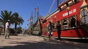 Pleasure boats Tunisia, Sousse stock footage