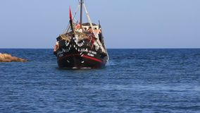 Pleasure boats Tunisia, Sousse stock video