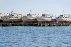 Pleasure boats in Yalta Stock Image