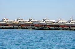 Pleasure boats in Yalta Stock Photography