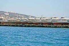 Pleasure boats in Yalta Royalty Free Stock Photo