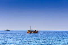 Pleasure craft boat in Adriatic sea Stock Image