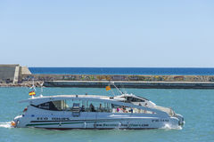 Pleasure craft sailing in Barcelona Stock Images