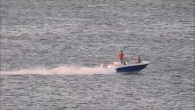 Pleasure craft speedboat stock footage