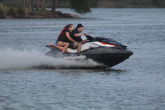 Pleasure Craft. Weekend pleasure  Jet Ski  in Nassau Bay Texas Stock Photography