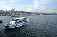 Pleasure cruise on the bosphorus Stock Image
