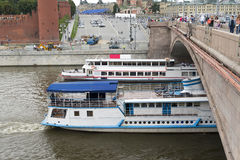 Pleasure cruise on the Moscow river. Stock Photography