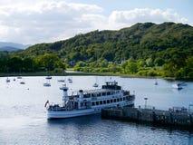 Pleasure cruiser at Ambleside, Lake District Stock Photos