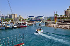 Pleasure and entertainment boats in Eilat Royalty Free Stock Photo