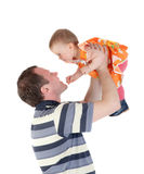 Pleasure of the father Stock Photography
