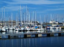 Pleasure harbor. Yachts and pleasure boats Stock Images