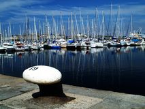 Pleasure harbor. Yachts and pleasure boats Stock Photos