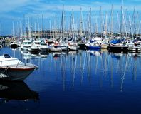 Pleasure harbor. Yachts and pleasure boats Royalty Free Stock Photo