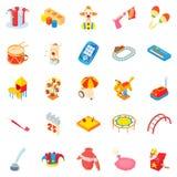 Pleasure icons set, cartoon style Stock Photography
