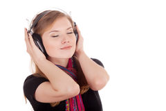 Pleasure of listening to music Royalty Free Stock Images