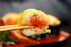 Pleasure by meal in the Japanese style Royalty Free Stock Photography