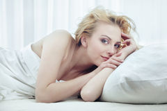 Pleasure at the morning Stock Images