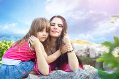 Pleasure of motherhood Royalty Free Stock Photography