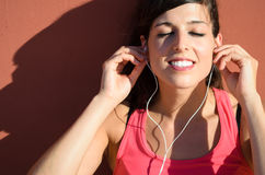 Pleasure of music Royalty Free Stock Photo