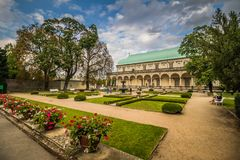 The summer palace of Queen Anne in summer in Prague, Czech Republic Stock Image