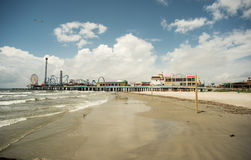 Pleasure Pier - Galveston Island Royalty Free Stock Image