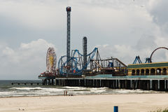 Pleasure Pier - Galveston Island Royalty Free Stock Photo