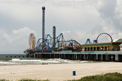 Pleasure Pier - Galveston Island Stock Image