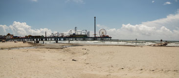 Pleasure Pier - Galveston Island Stock Photo